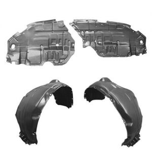 5387535100 TO1251124 Parts N Go 2006-2009 4Runner Fender Liner with Clips//Fasteners Front Passenger Side Right Hand RH